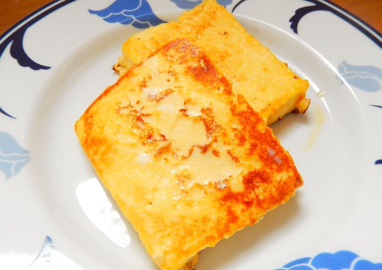 レシピ「高野豆腐のフレンチトースト」