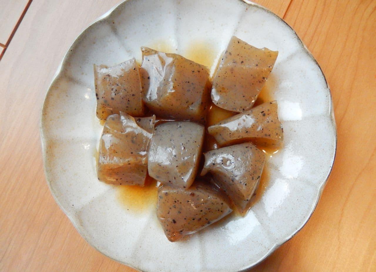 こんにゃくのレンジ煮レシピ