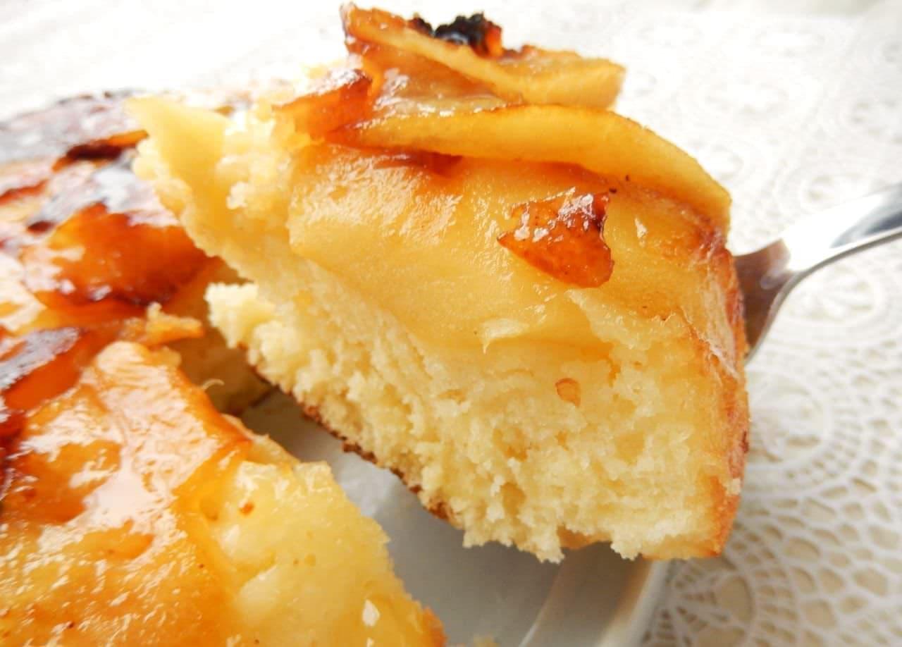 レシピ「りんごのタルトタタン風ホットケーキ」