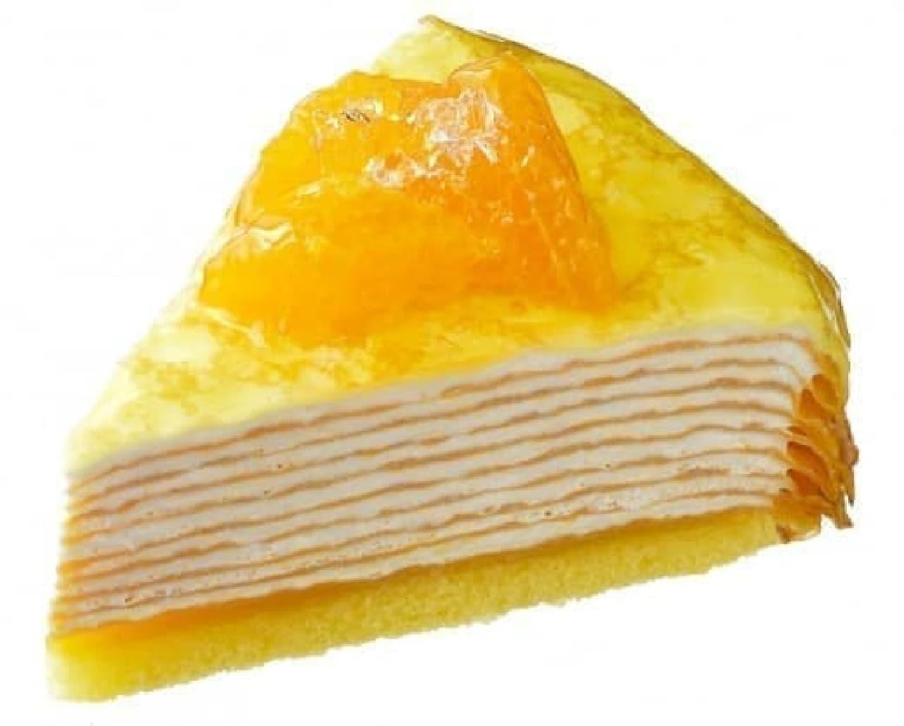 銀座コージーコーナー「清見オレンジのミルクレープ」