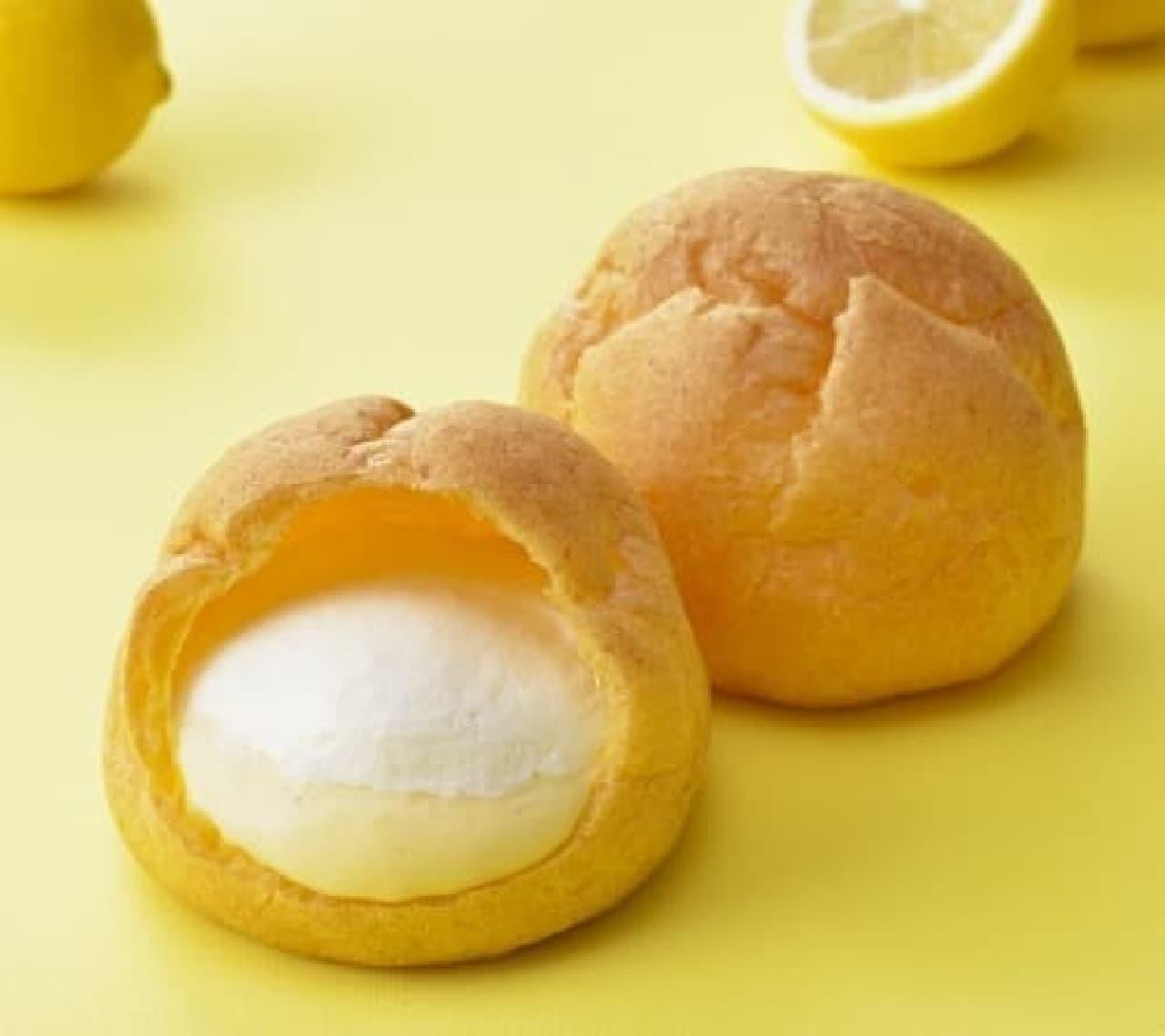 銀座コージーコーナー「ジャンボシュークリーム(瀬戸内レモン&チーズ)」