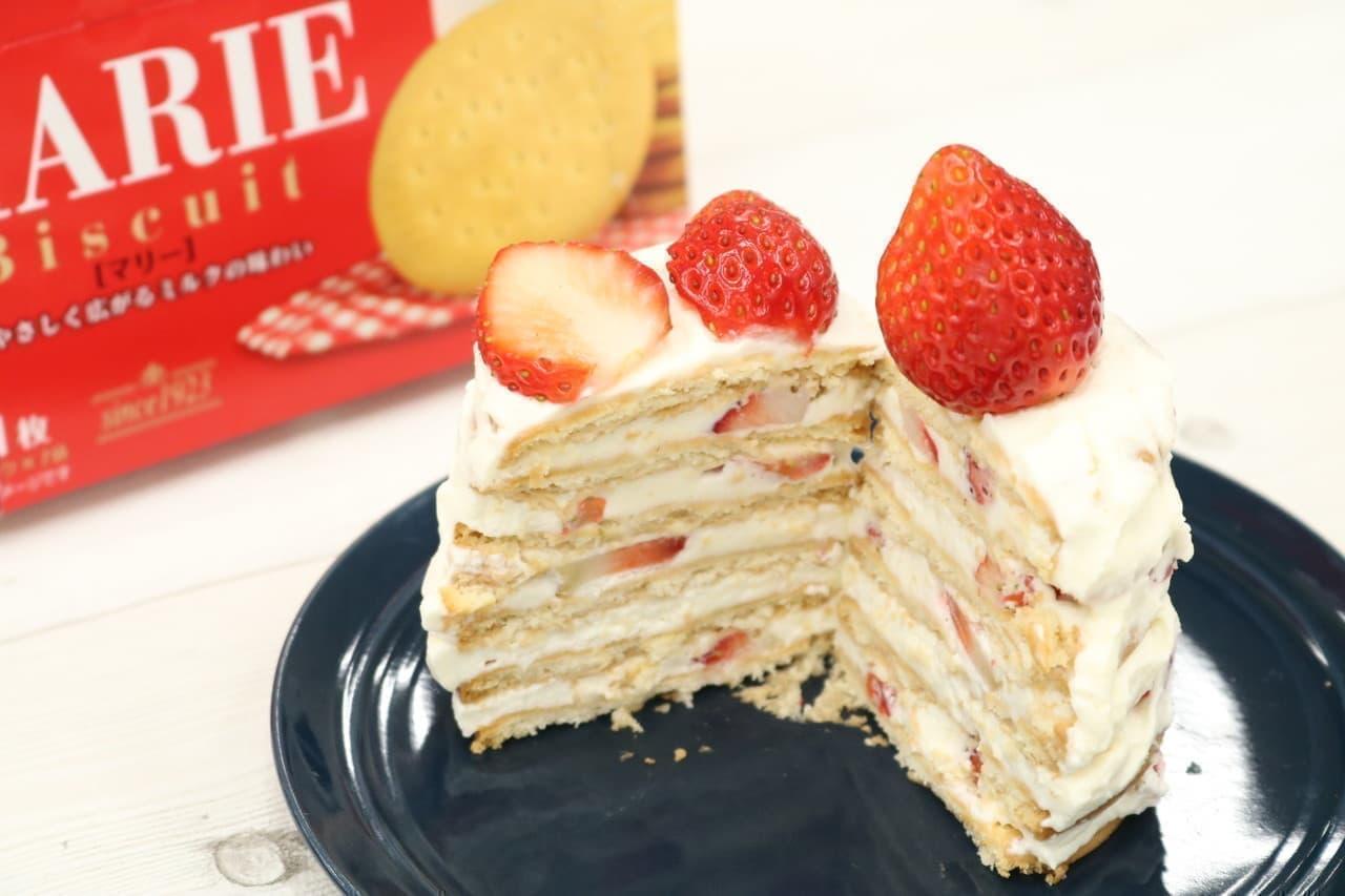 レシピ「マリービスケットケーキ」