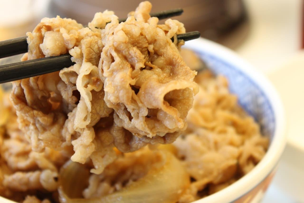 吉野家「肉だく牛丼」