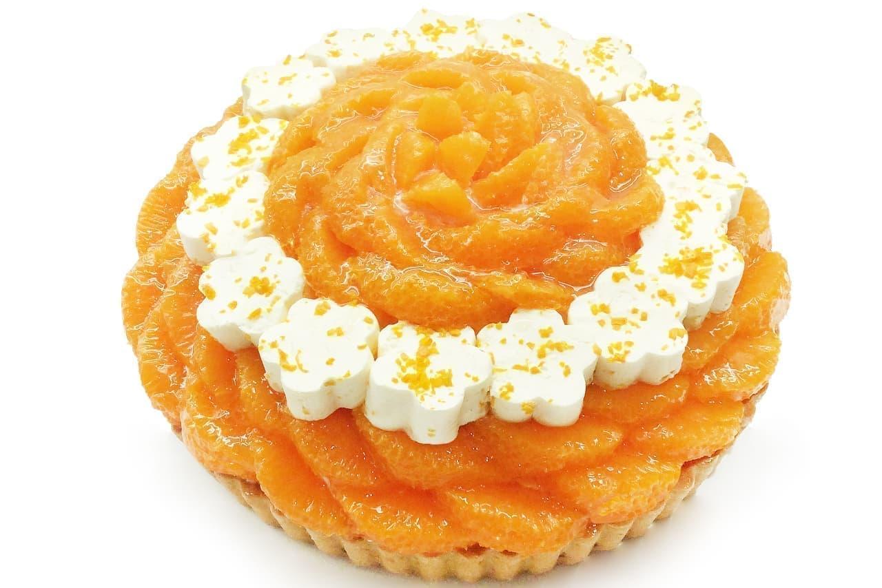カフェコムサに「オレンジの日」記念した限定ケーキ