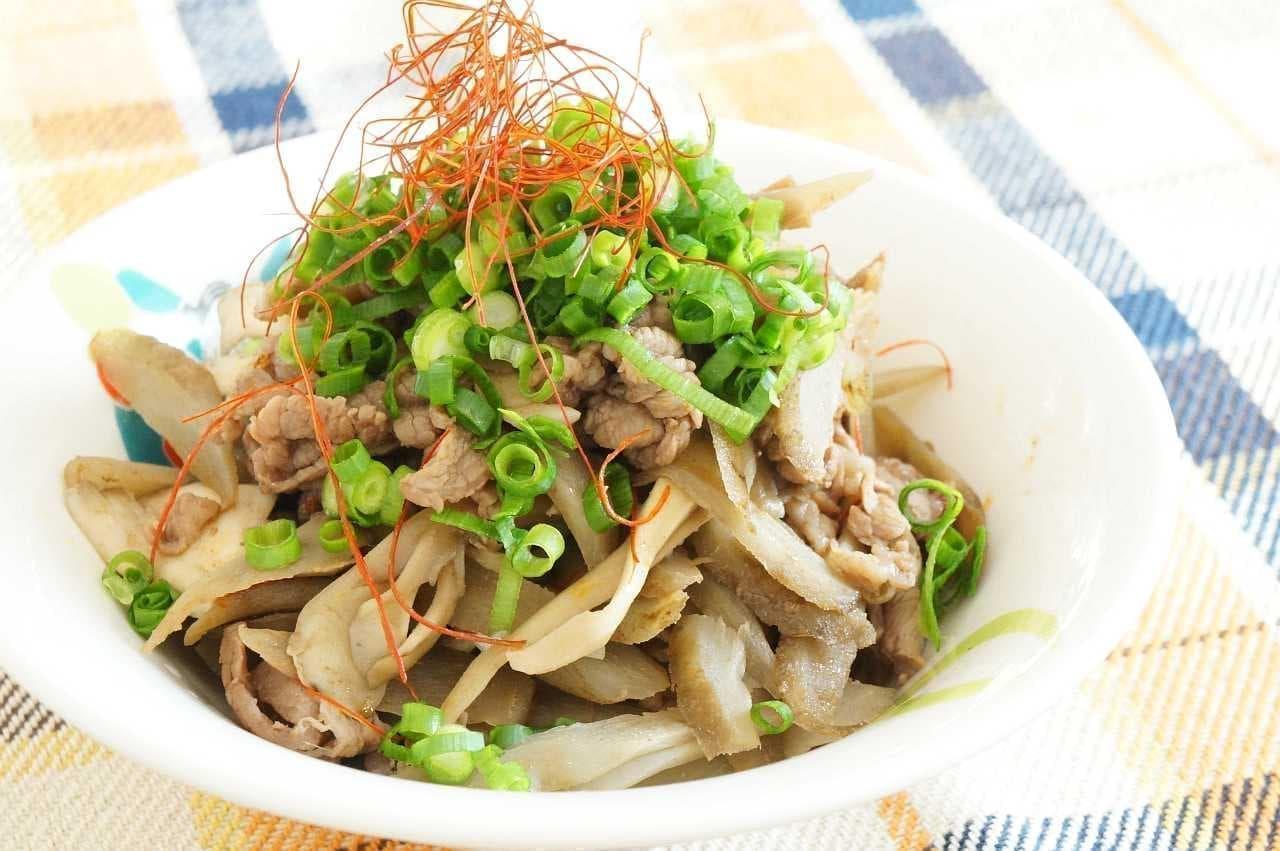 牛肉とごぼうのピリ辛炒め