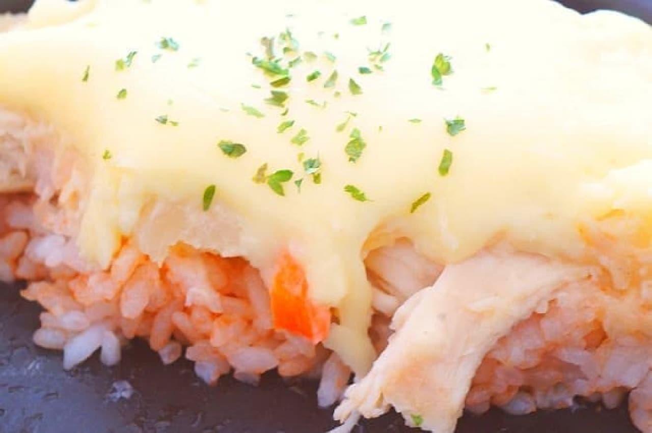 レシピ「コンビニポテサラドリア」
