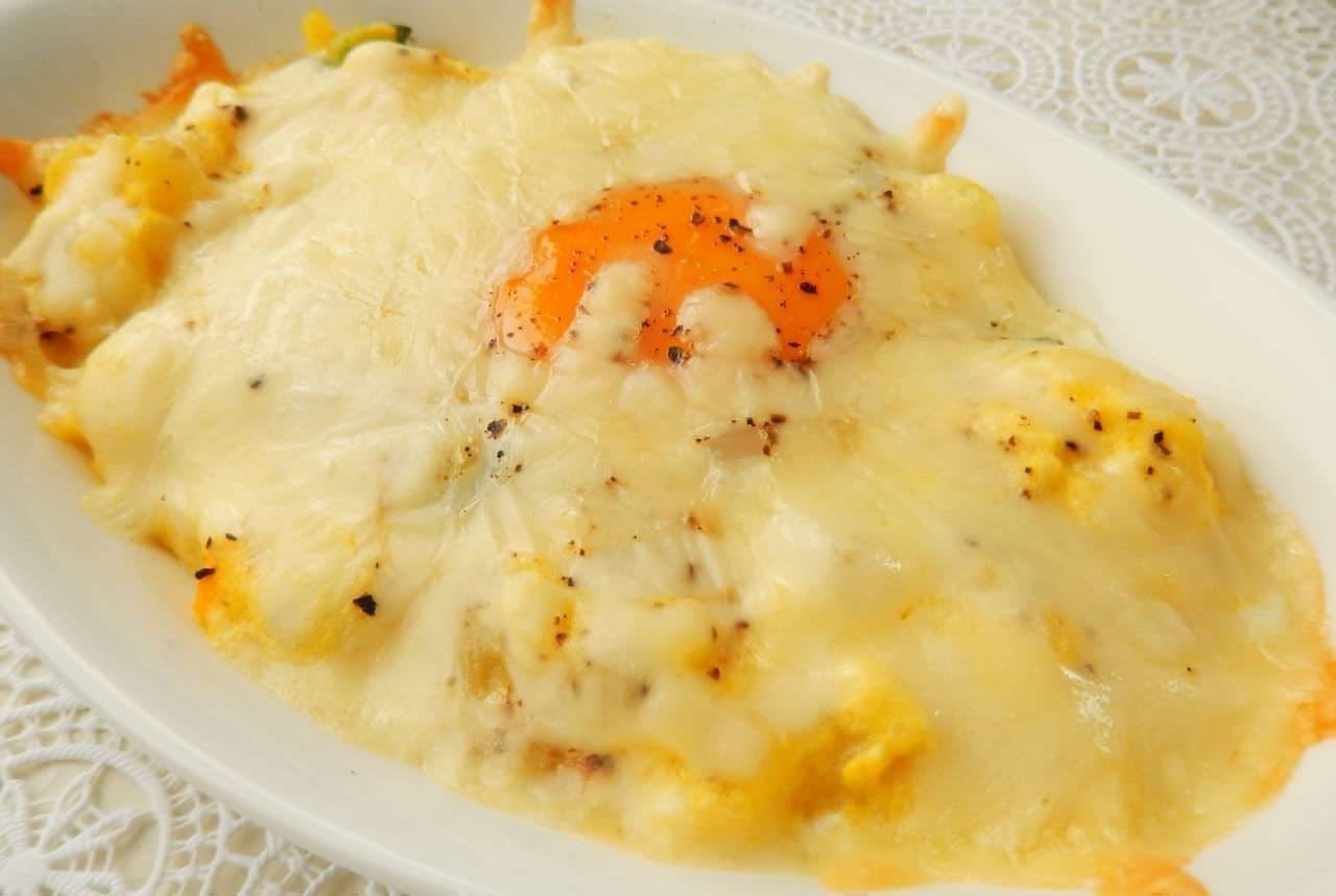 レシピ「ポテサラ卵グラタン」
