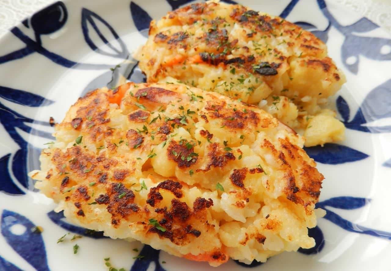 レシピ「ポテトサラダのハッシュドポテト風」