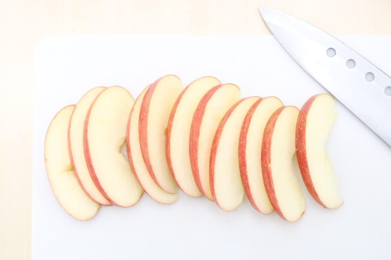 私のはちみつバターを使ったレシピ「りんごのはちみつバターソテー」