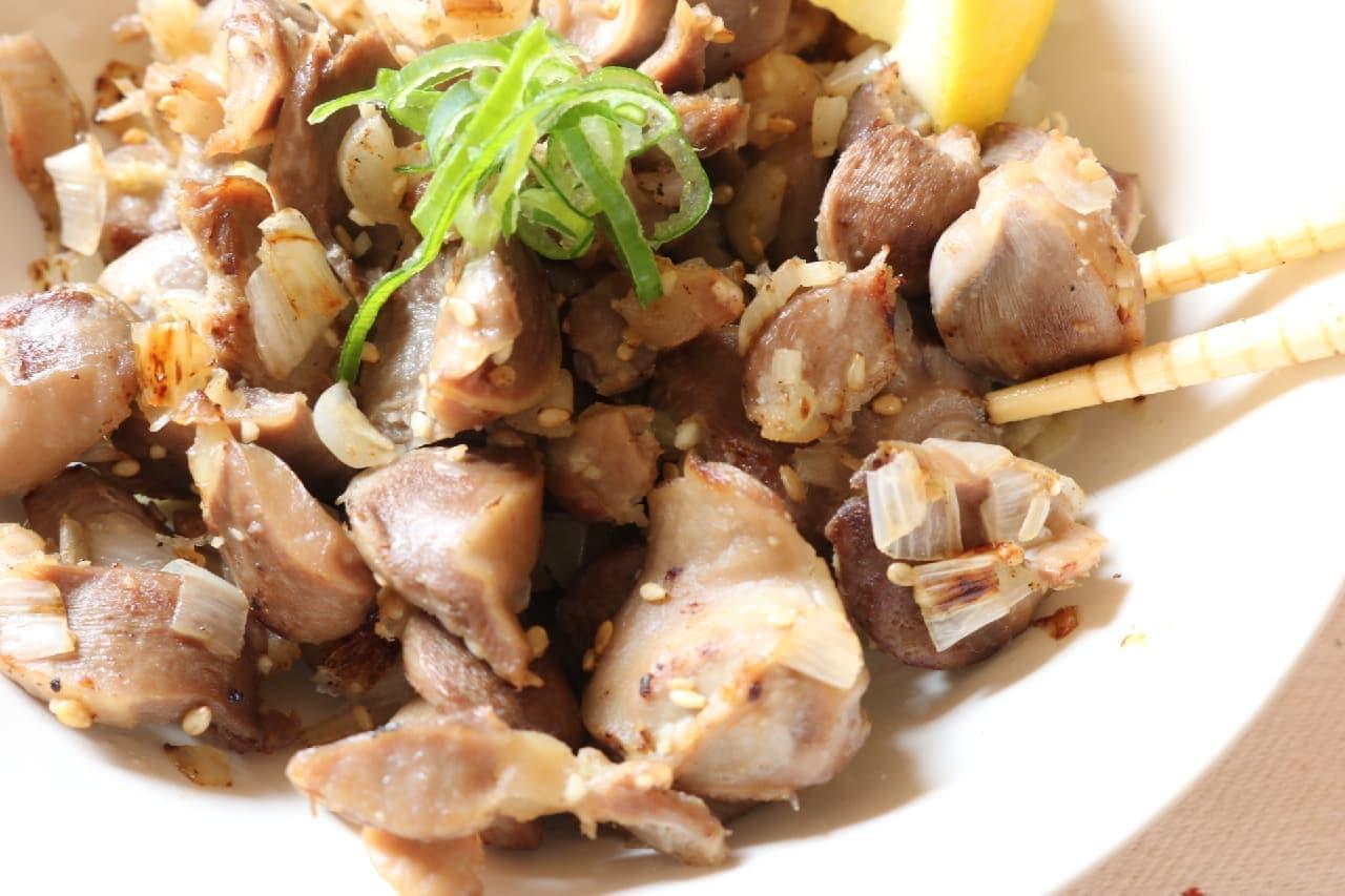 レシピ「ネギ塩砂肝」