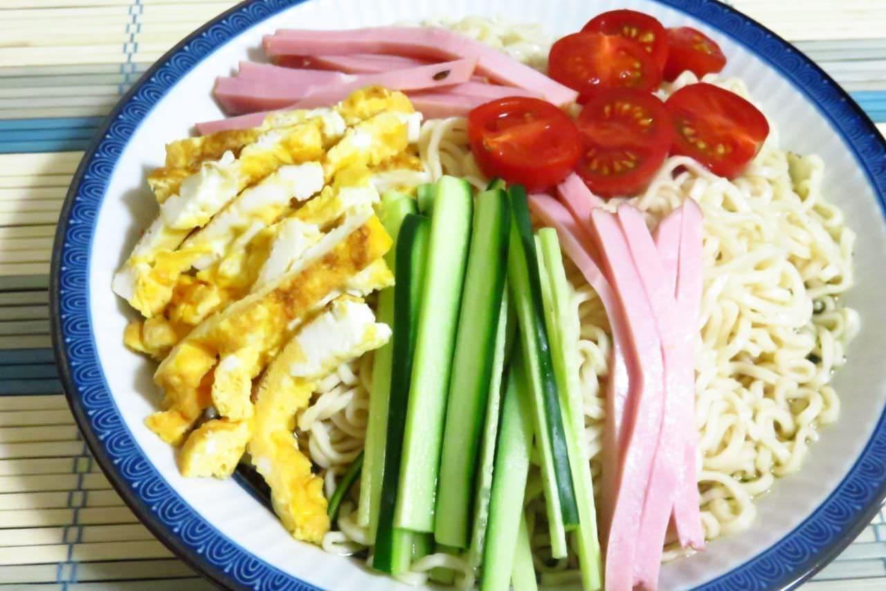 レシピ「サッポロ一番の冷やし中華」