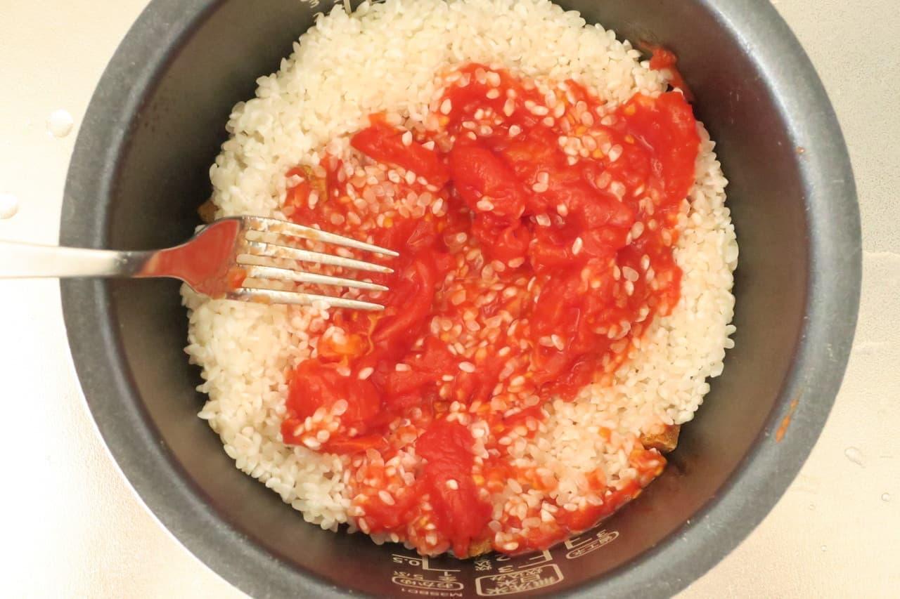 トマトとツナの炊き込みご飯