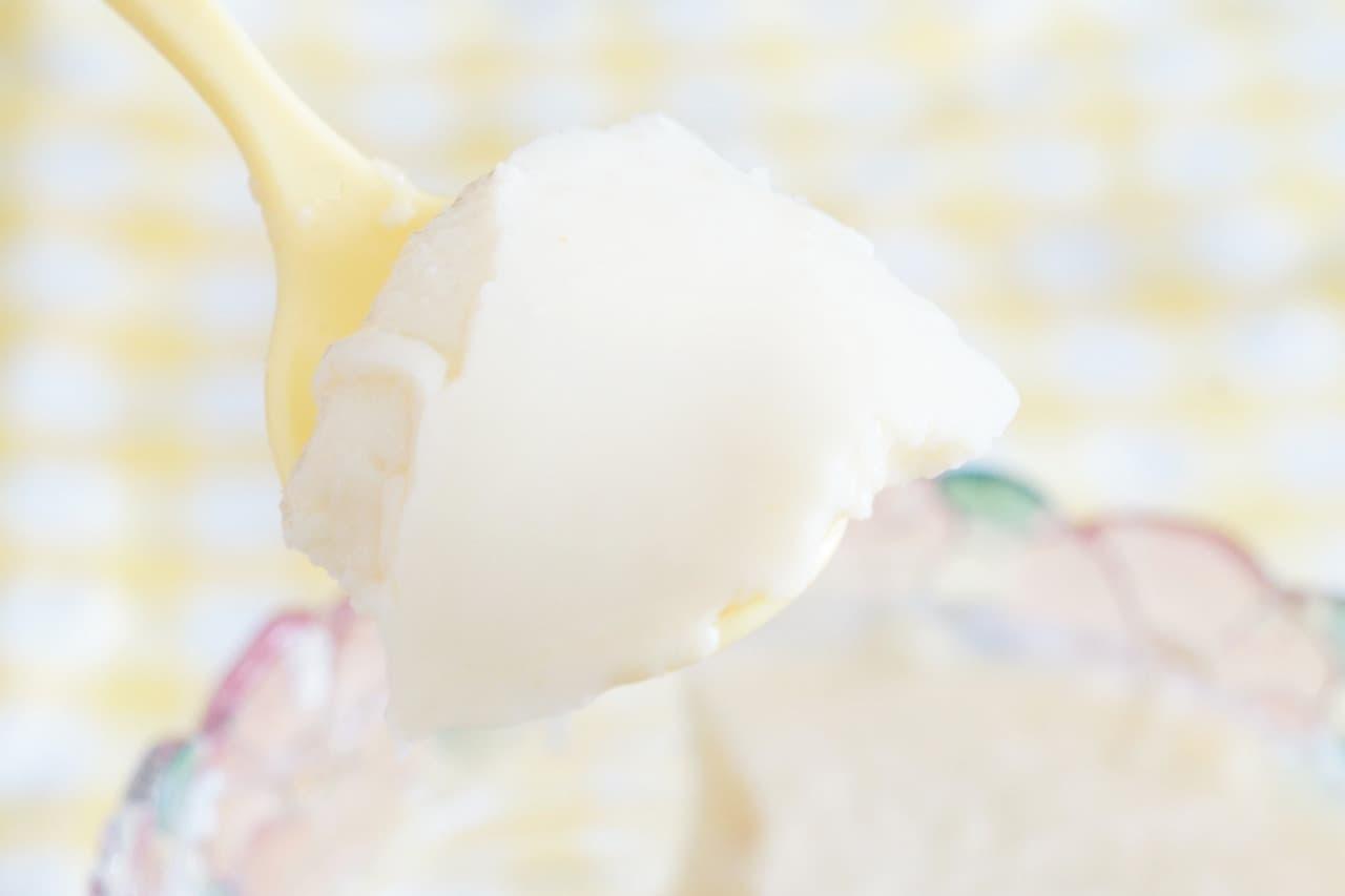 レモンシロップの杏仁豆腐