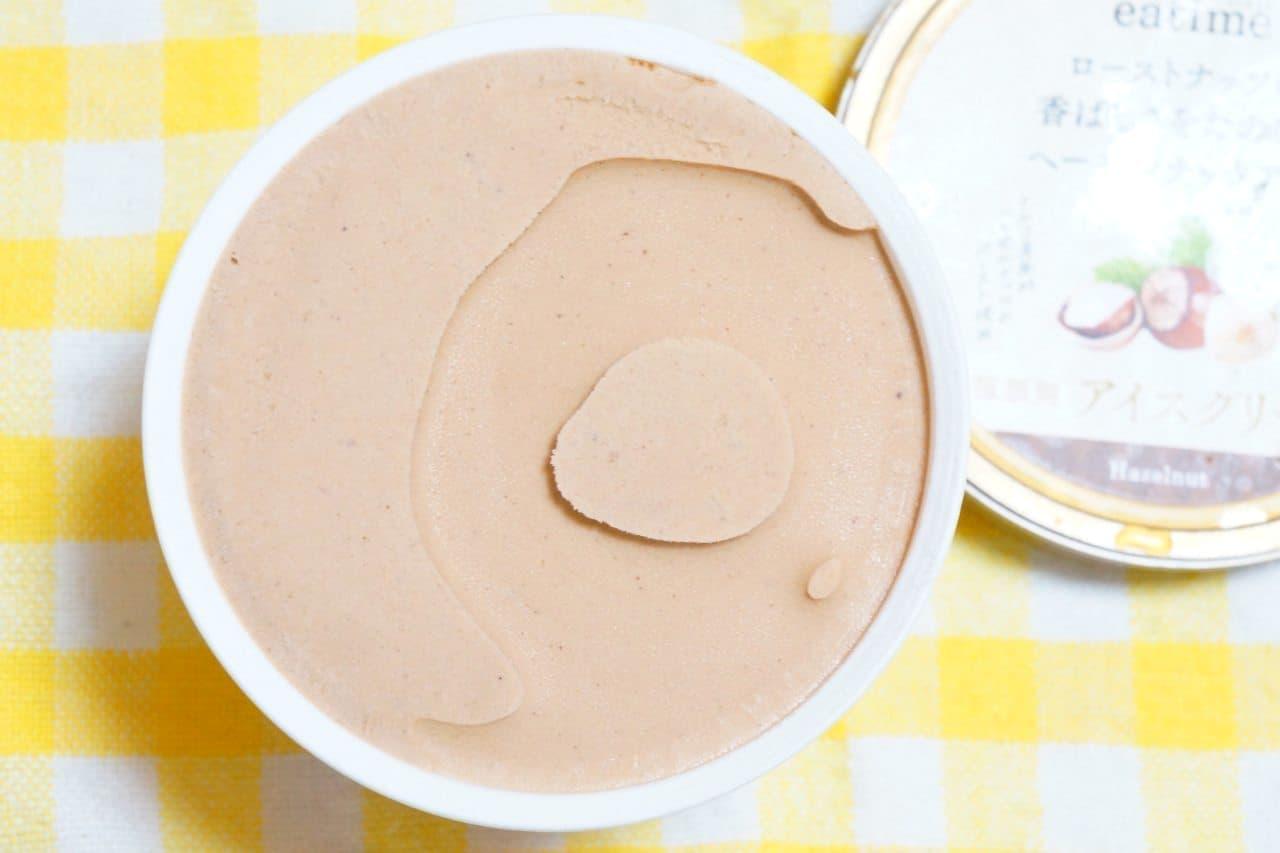 イータイム「ローストナッツの香ばしさをたのしむヘーゼルナッツアイス」