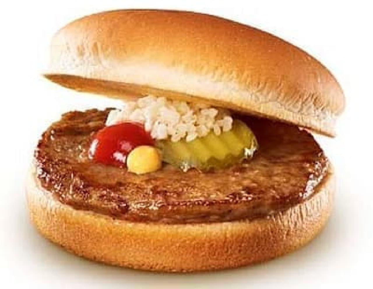 ロッテリアハンバーガー