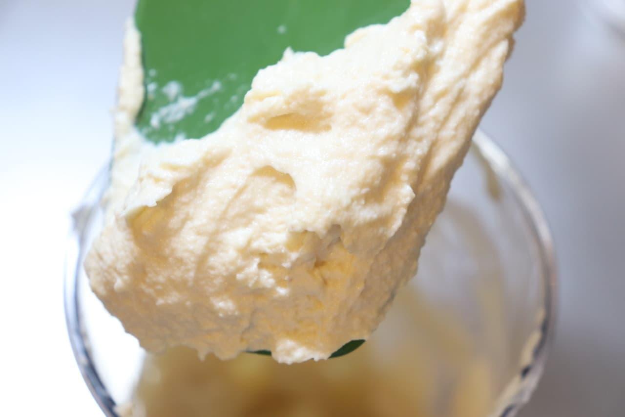 豆腐のホイップクリーム風