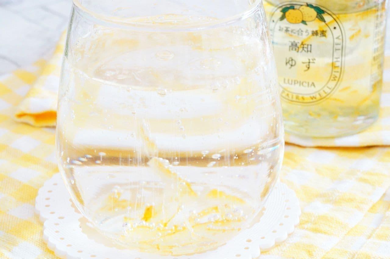 ルピシア「お茶に合う蜂蜜」を入れた炭酸水