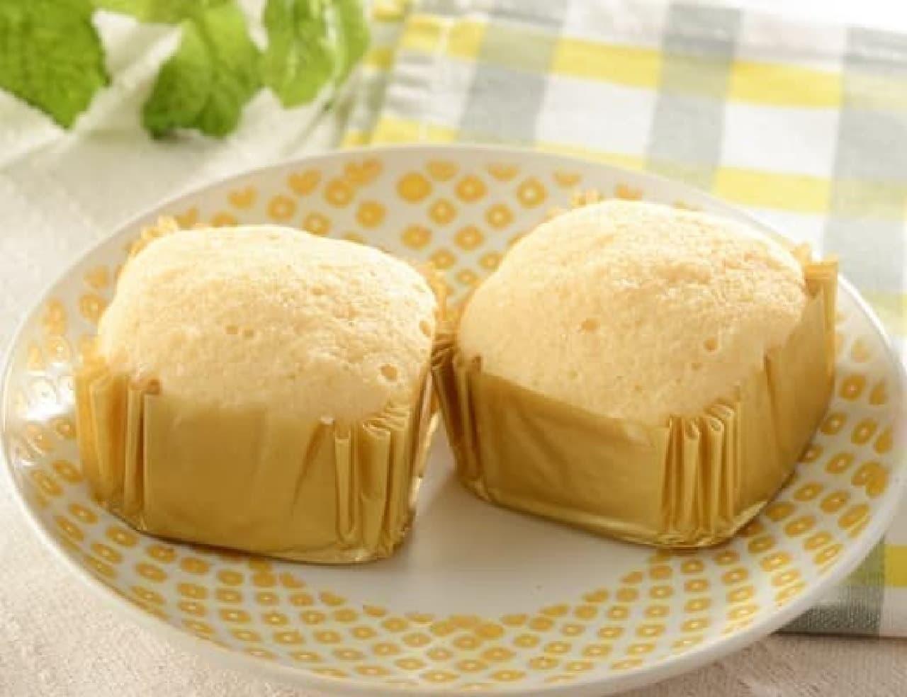 ローソン「NL プロテイン入りチーズ蒸しケーキ2個入」