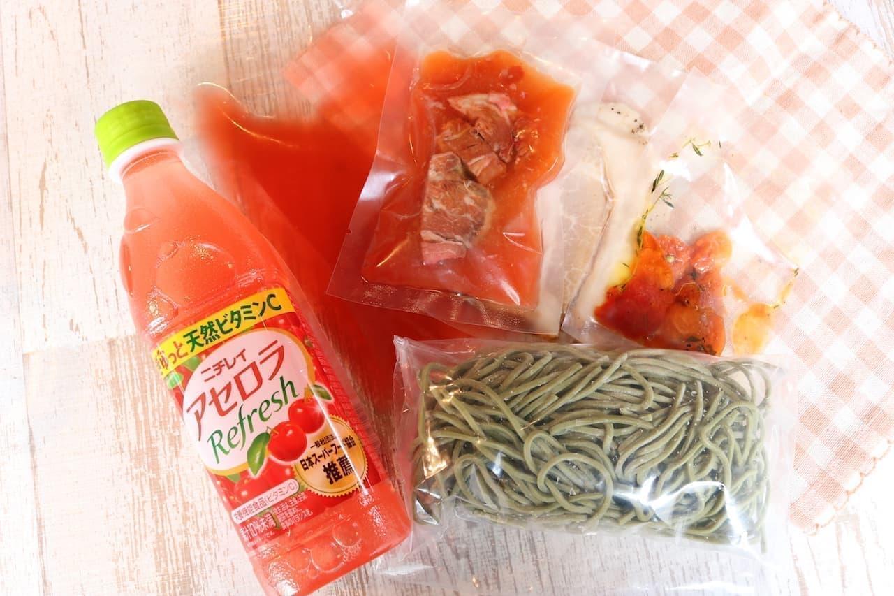 「焼きアセロラのスーパーフードつけ麺」のテイクアウトセット