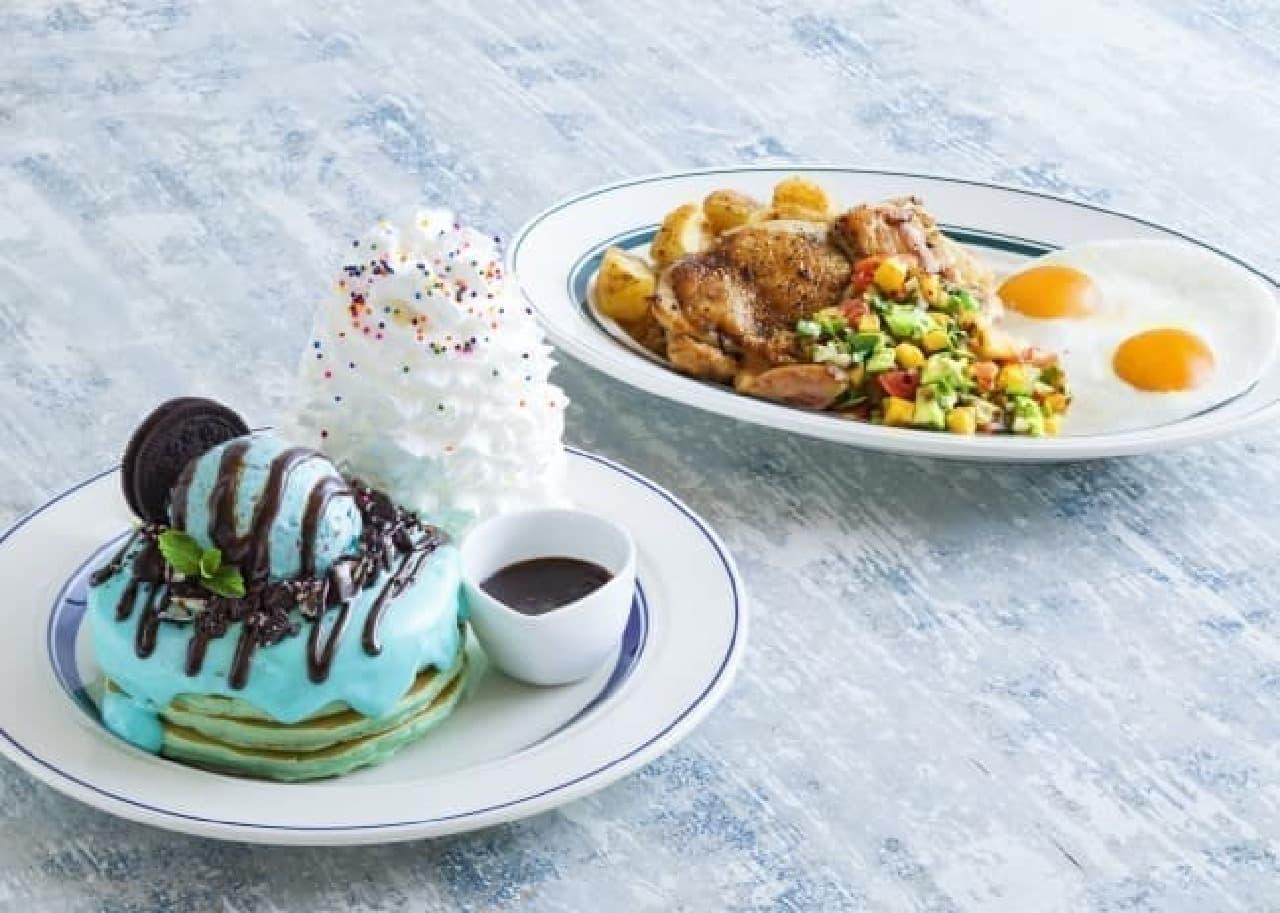 エッグスンシングスチョコミントパンケーキ