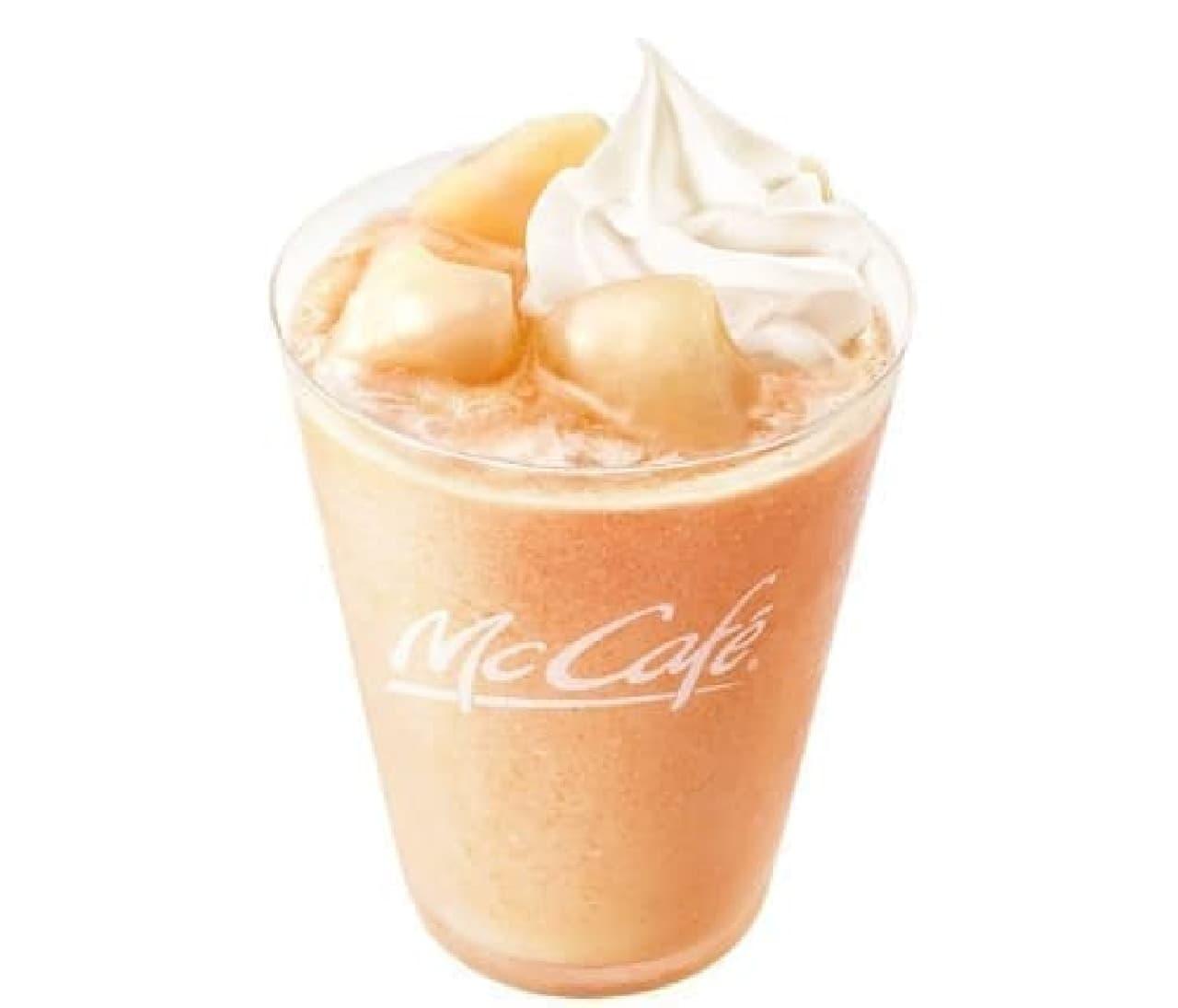 マックカフェ バイ バリスタ「ふわふわ もものクリーミーフラッペ」