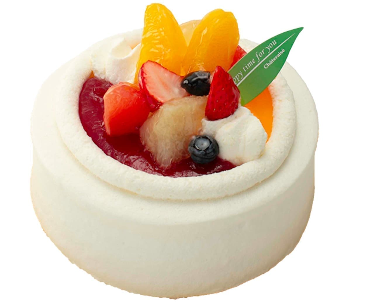 シャトレーゼ「苺と柑橘のスフレチーズデコレーション」