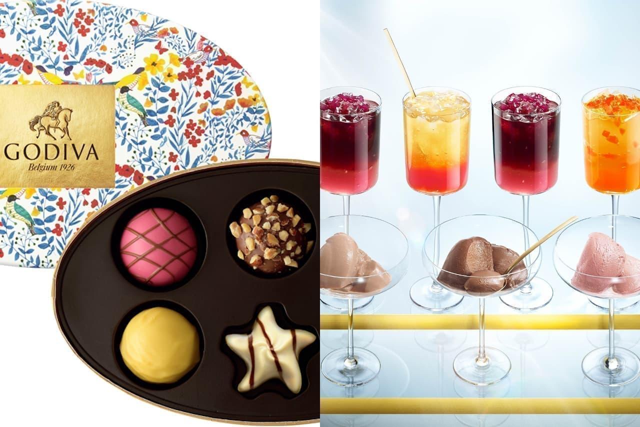 ゴディバに夏限定チョコ「ソレイユコレクション」と冷たいデザート「ムースショコラ エ ジュレ」