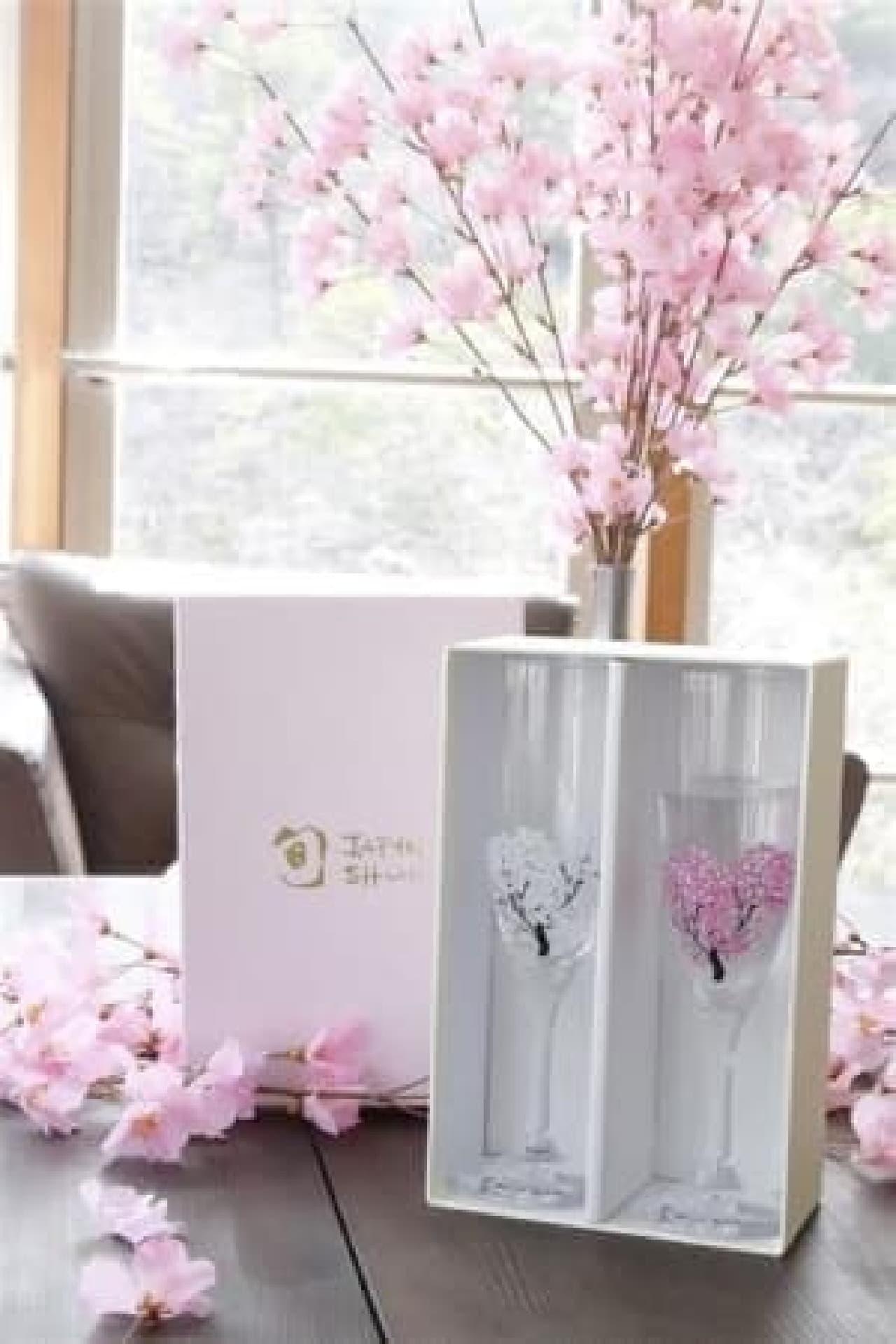 冷感桜 シャンパングラス ペア