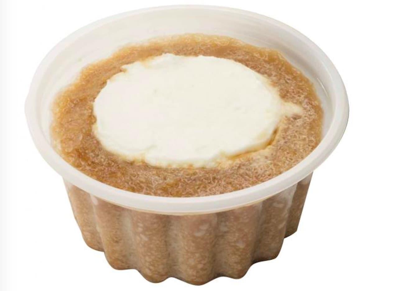 シャトレーゼ「白州名水かき氷 ミルクジェラートのコーヒーフロート」