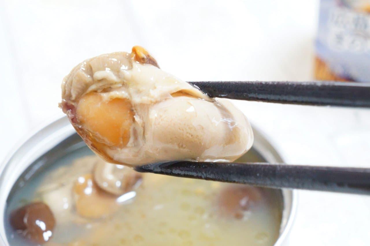 明治屋「おいしい缶詰」シリーズの広島県産かき燻製油漬