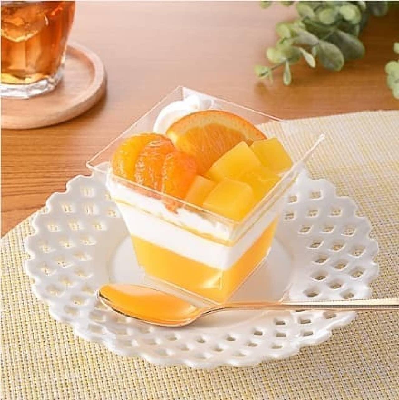 ファミリーマート「オレンジとみかんのパフェ」