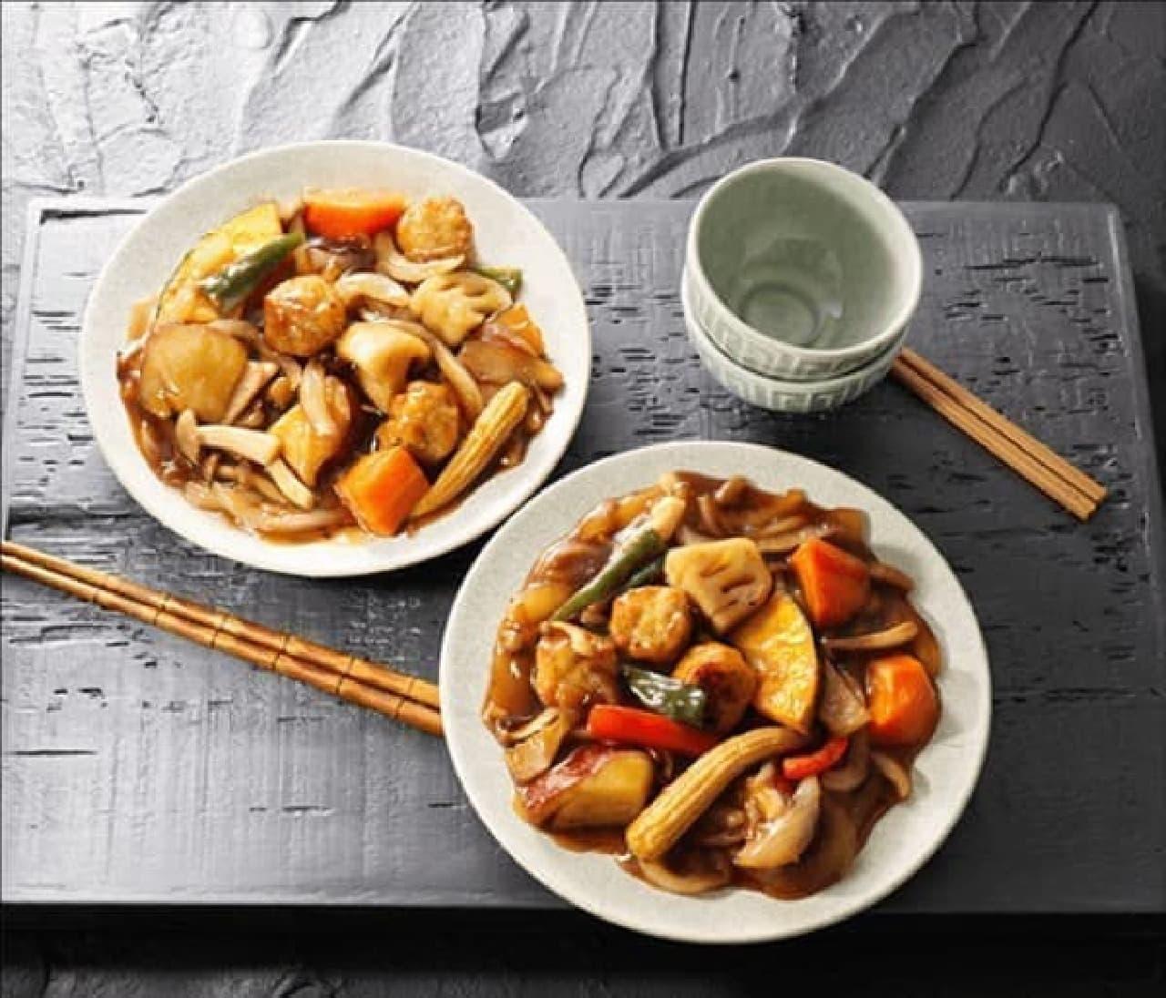 成城石井初のミールキットシリーズ「日南鶏肉団子とごろごろ野菜の黒酢あんかけ」