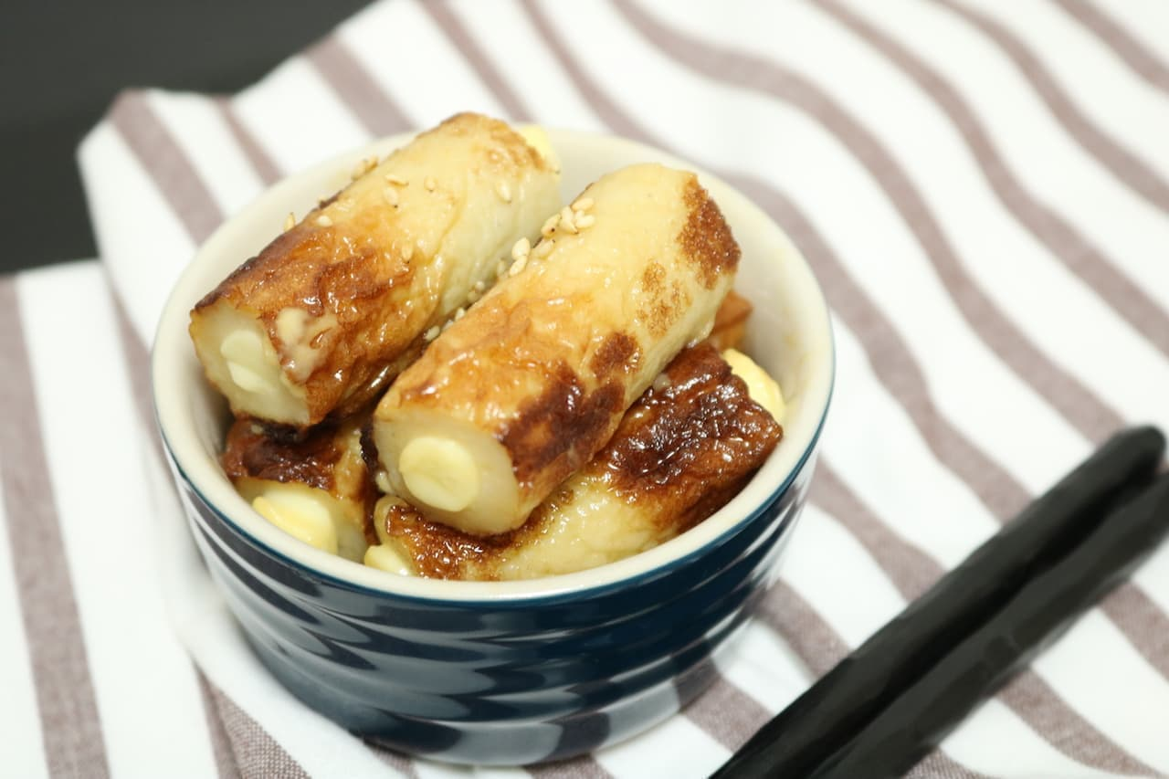 絶品おつまみレシピ「ちくわチーズの甘辛焼き」