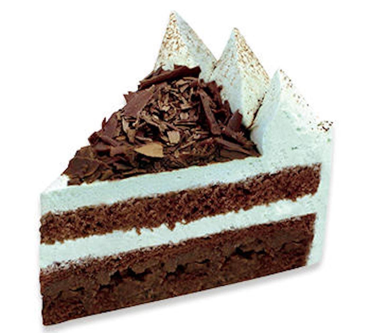不二家のザクザクチョコミントケーキ