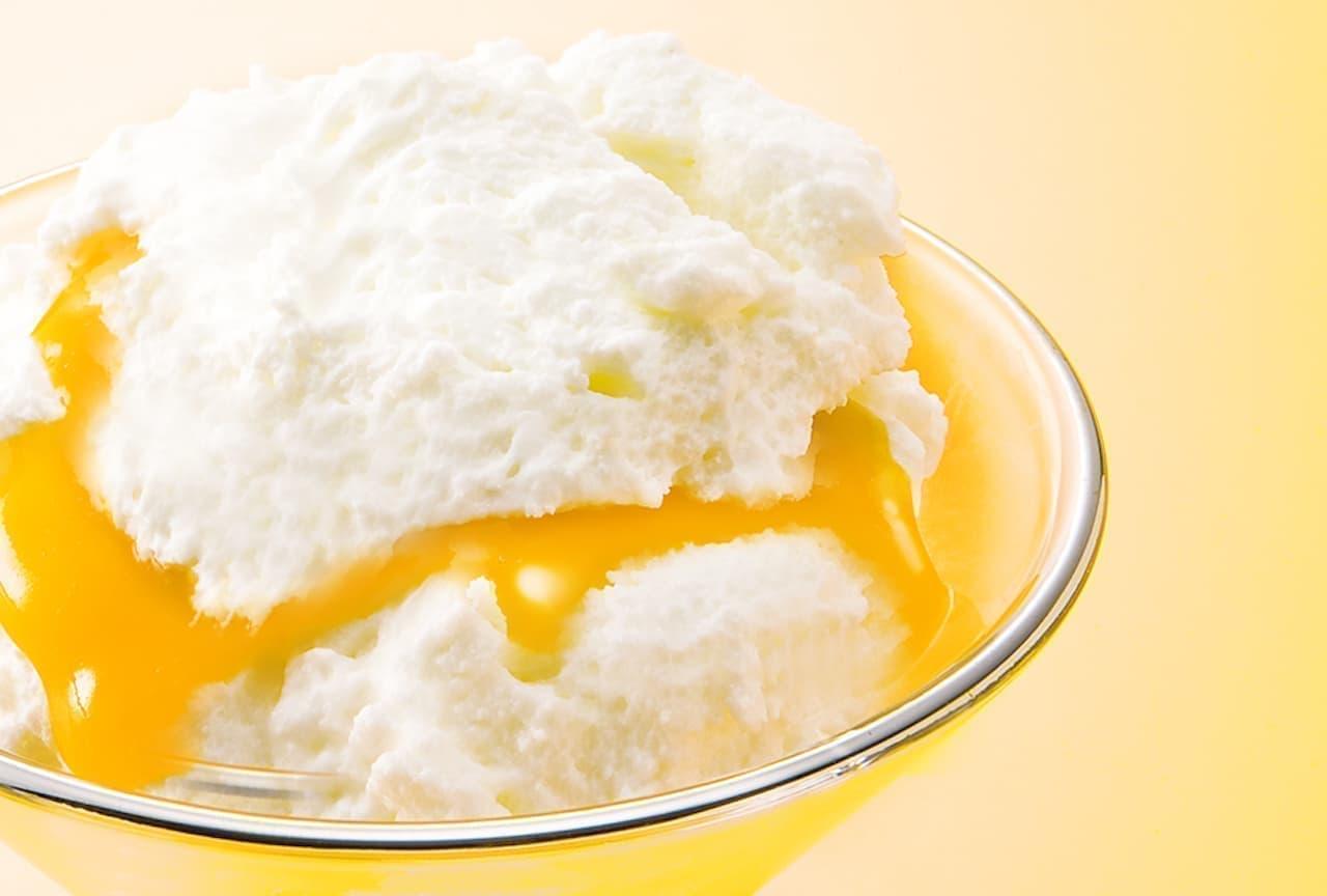 「チーズケーキ かご盛り 白らら〈パッションマンゴー〉」が銀のぶどう首都圏各店で