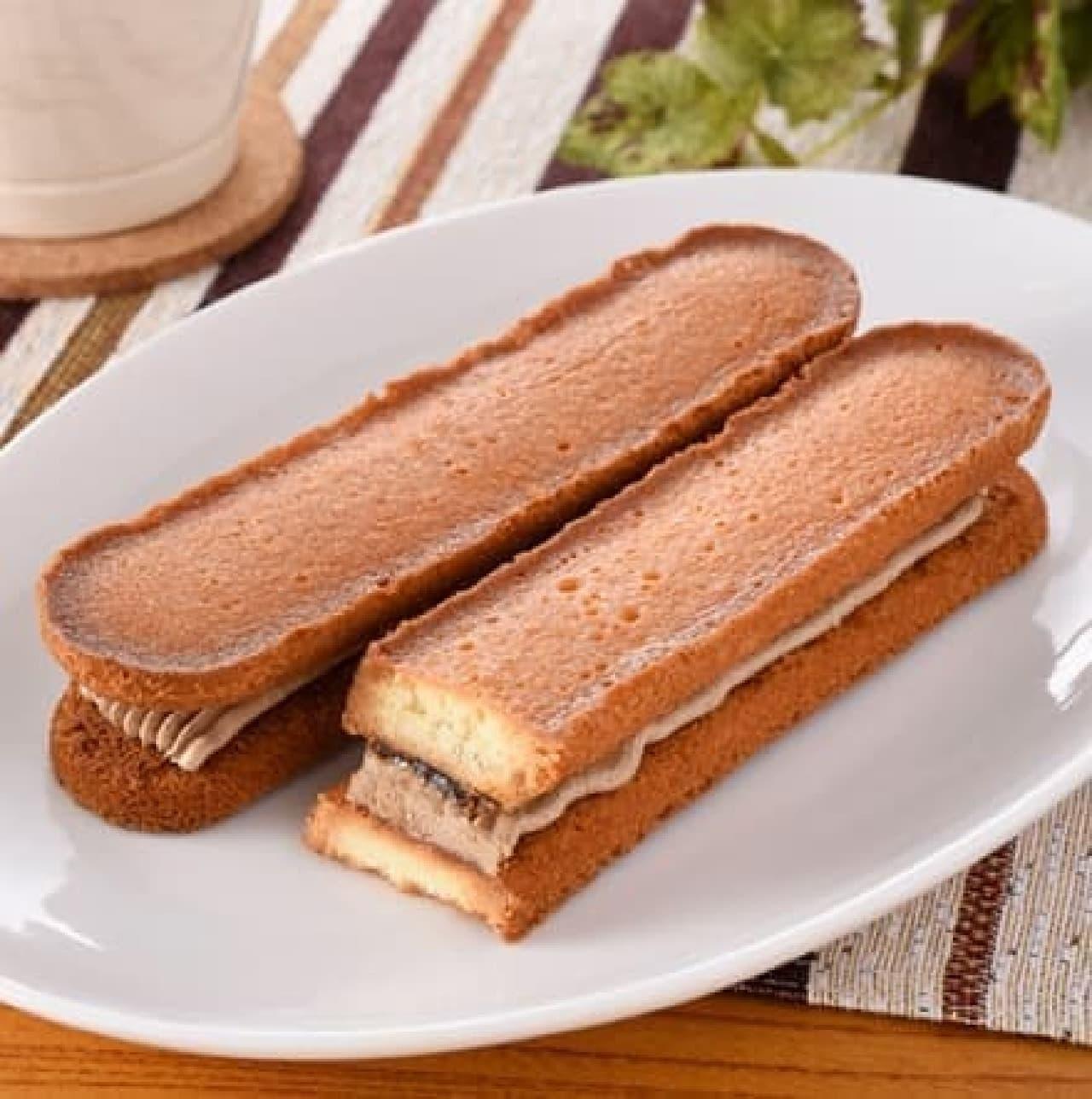 ファミリーマート「香ばしいクッキーのクリームサンド(コーヒー)」