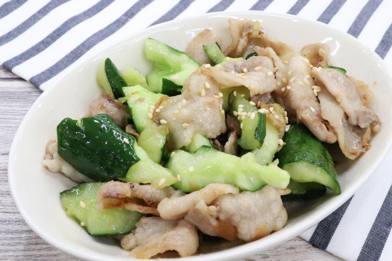 「豚肉ときゅうりの梅炒め」のレシピ