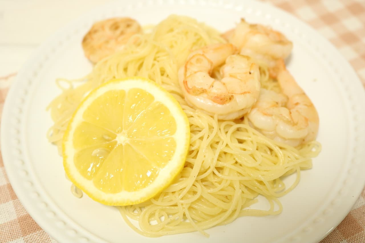 さっぱり爽やか「海老とレモンのパスタ」のレシピ