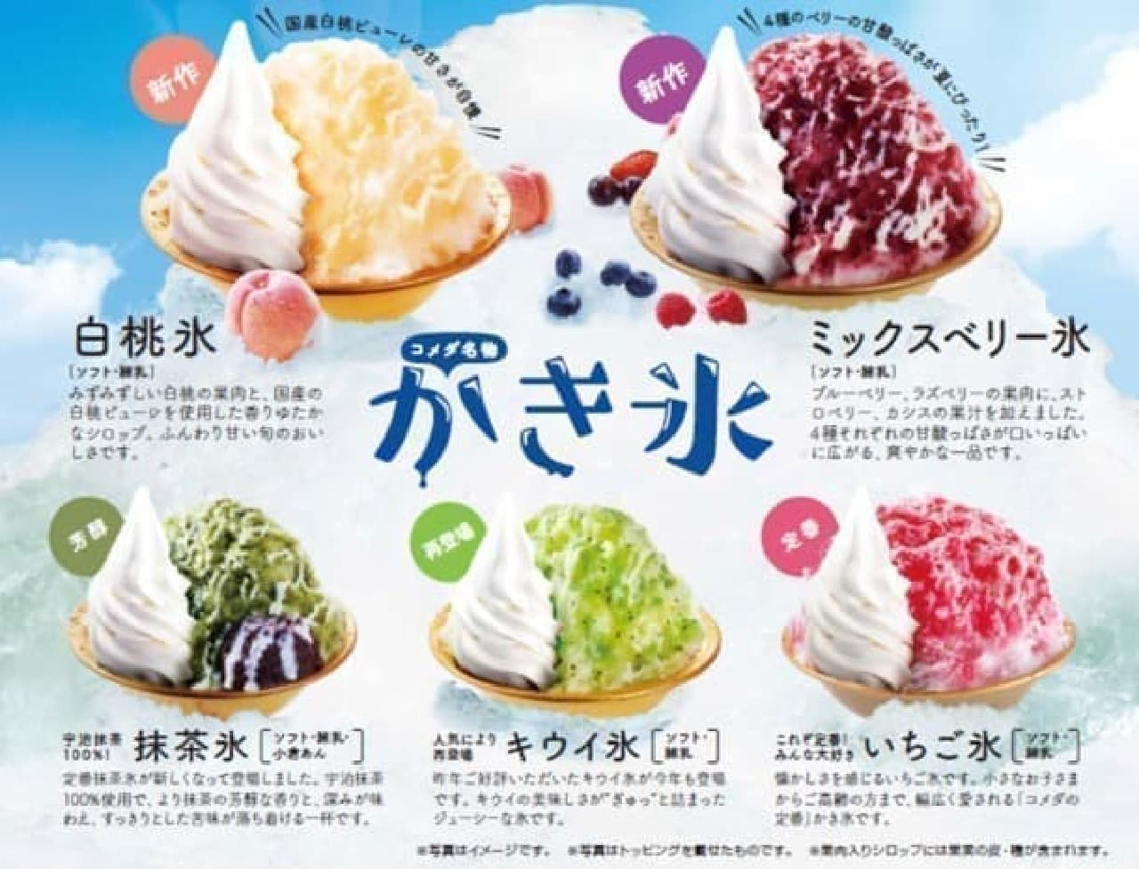 コメダ珈琲店のかき氷