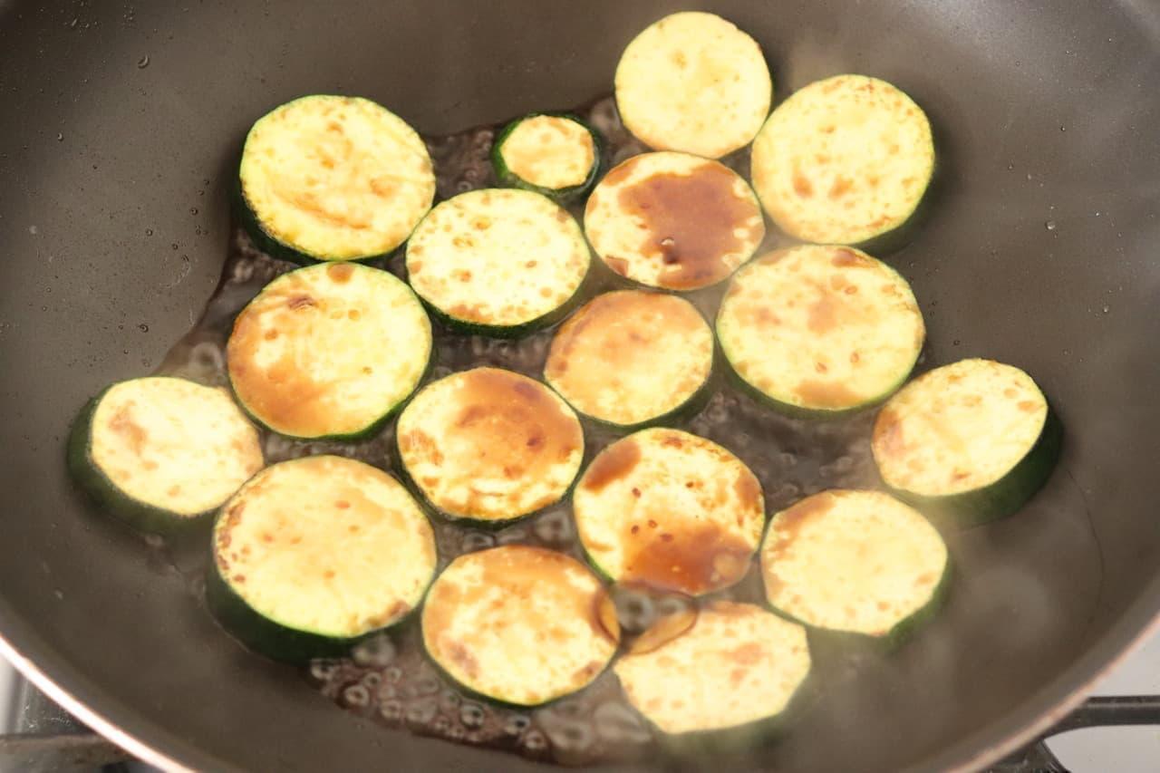ズッキーニのポン酢焼き