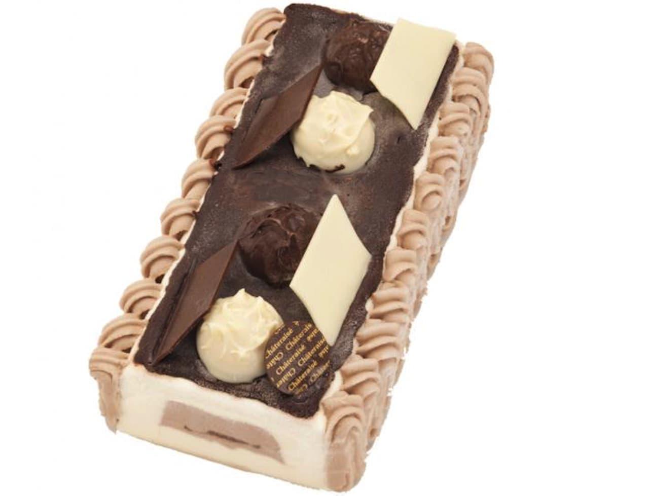 シャトレーゼ「デザートアイスケーキ チョコレートバニラ」