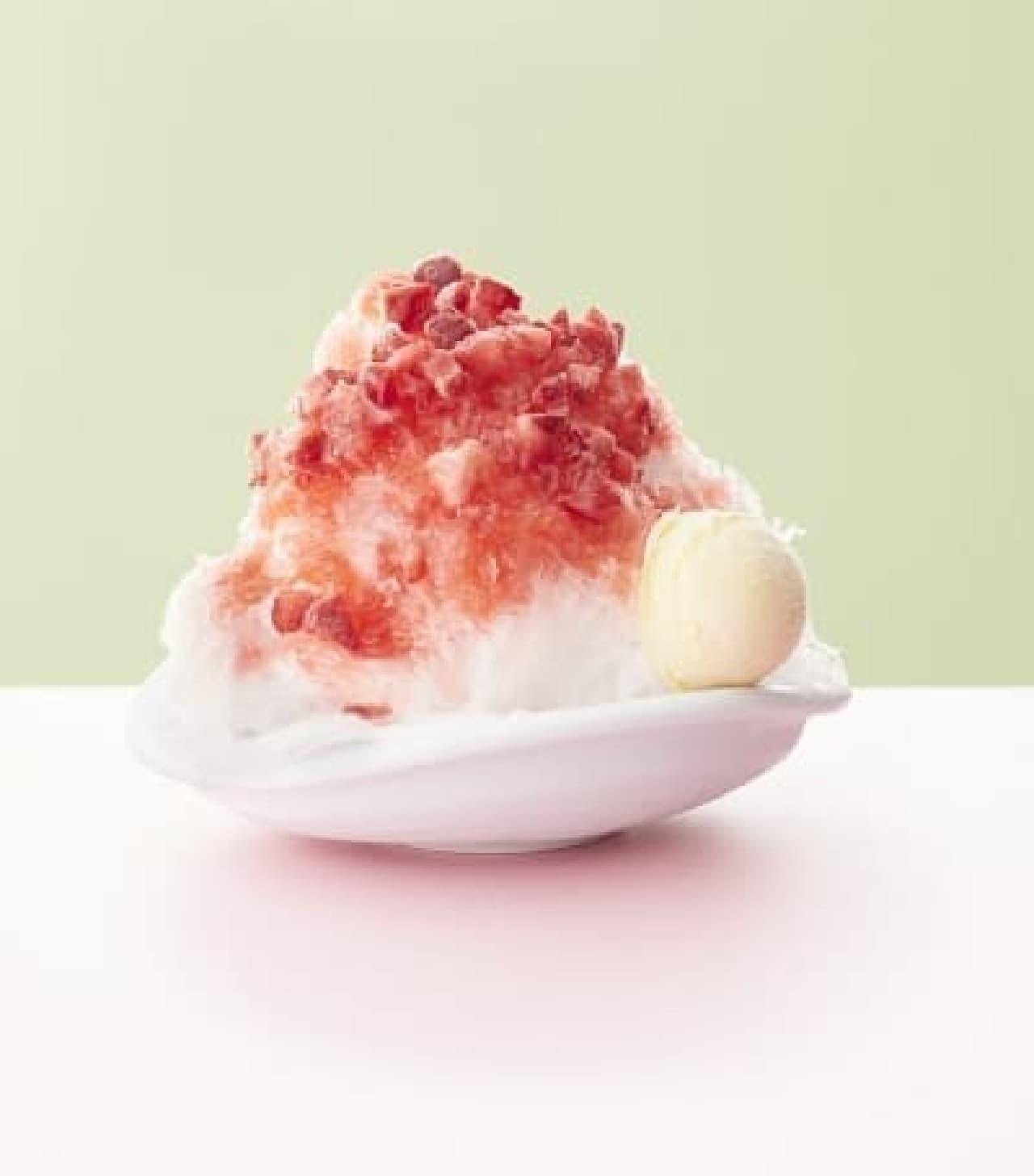 ココス「苺のふわふわかき氷」