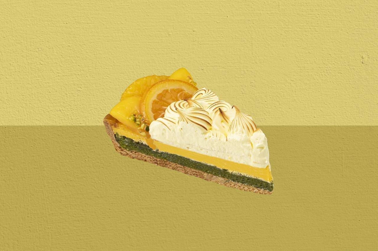 キル フェ ボン グランメゾン銀座「オレンジとマンゴーのタルト~ひまわり~」