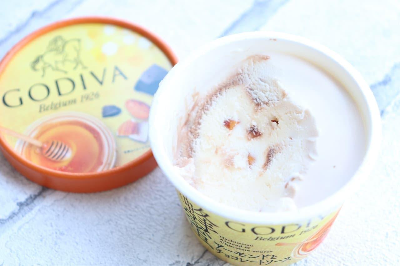 ゴディバ蜂蜜アーモンドとチョコレートソース
