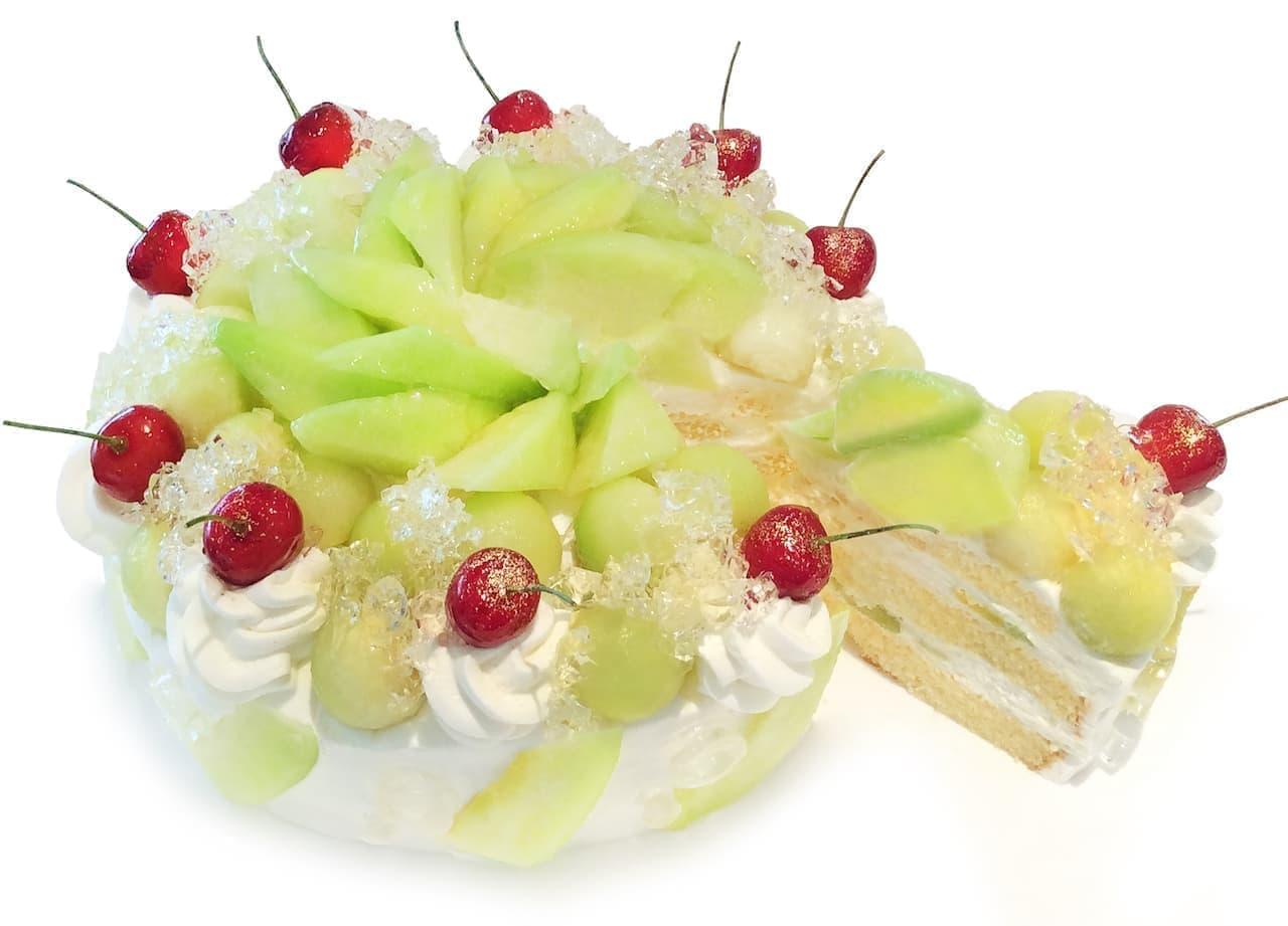 カフェコムサ「メロンのショートケーキ」ショートケーキの日に