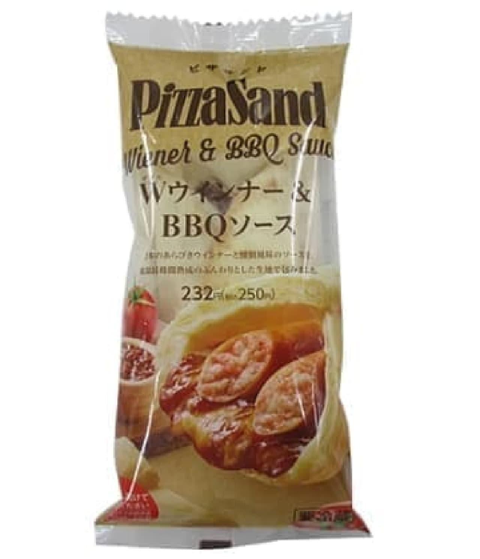 ファミリーマート「ピザサンド Wウインナー&BBQソース」