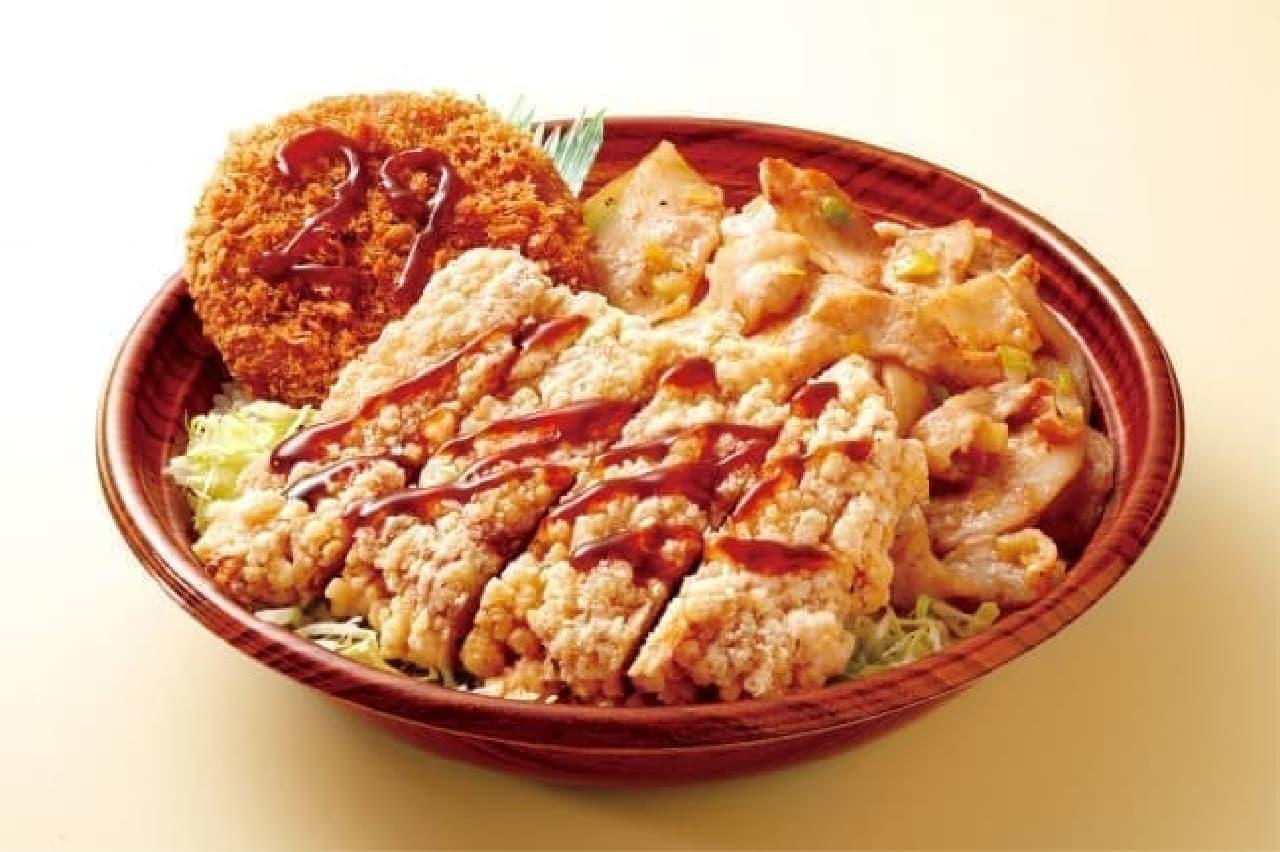 オリジン弁当肉トリプル丼