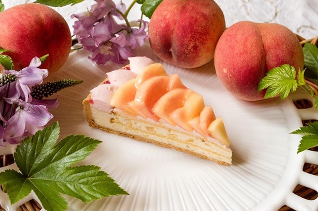 キルフェボンに桃のタルト