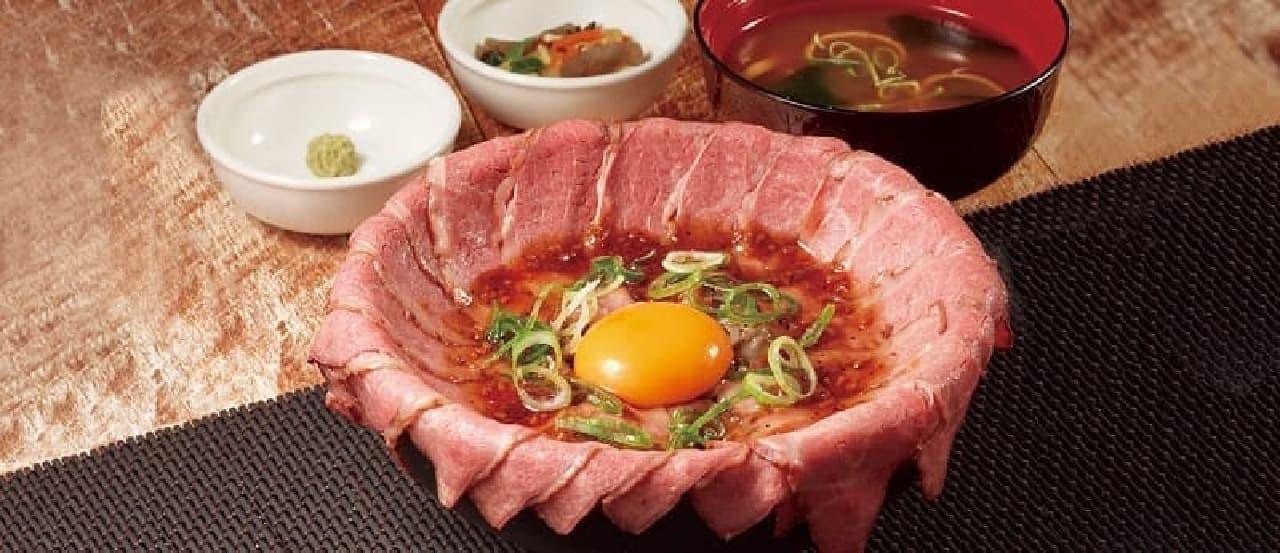 """ココス「こぼれローストビーフ丼""""極""""」"""