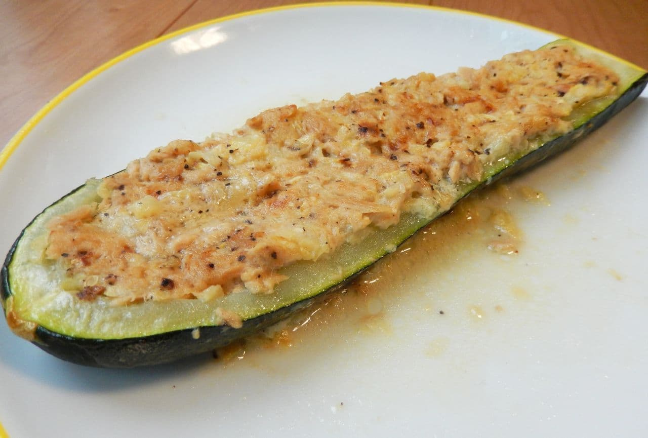 ズッキーニボートのレシピ